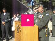 ΒΙΝΤΕΟ: Διοικητής Α' Σώματος Στρατού Γιώργος Ντζιμάνης: «Φυλάξτε στις καρδιές σας το πρόσταγμα του εμβλήματος του Σώματος το «Μολών Λαβέ»