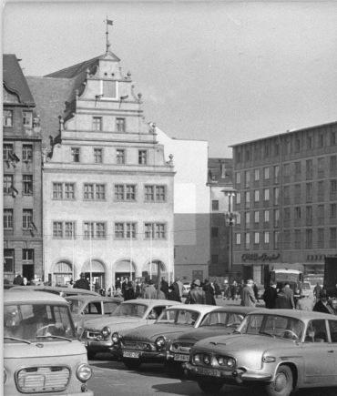 Leipzig, Marktplatz, Parkplatz