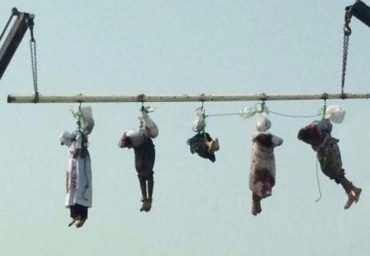 The Saudis keep the executed for public display.