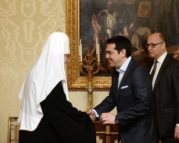 00 Patriarch kirill. Alexis Tsipras. moscow 01. 10.04.15