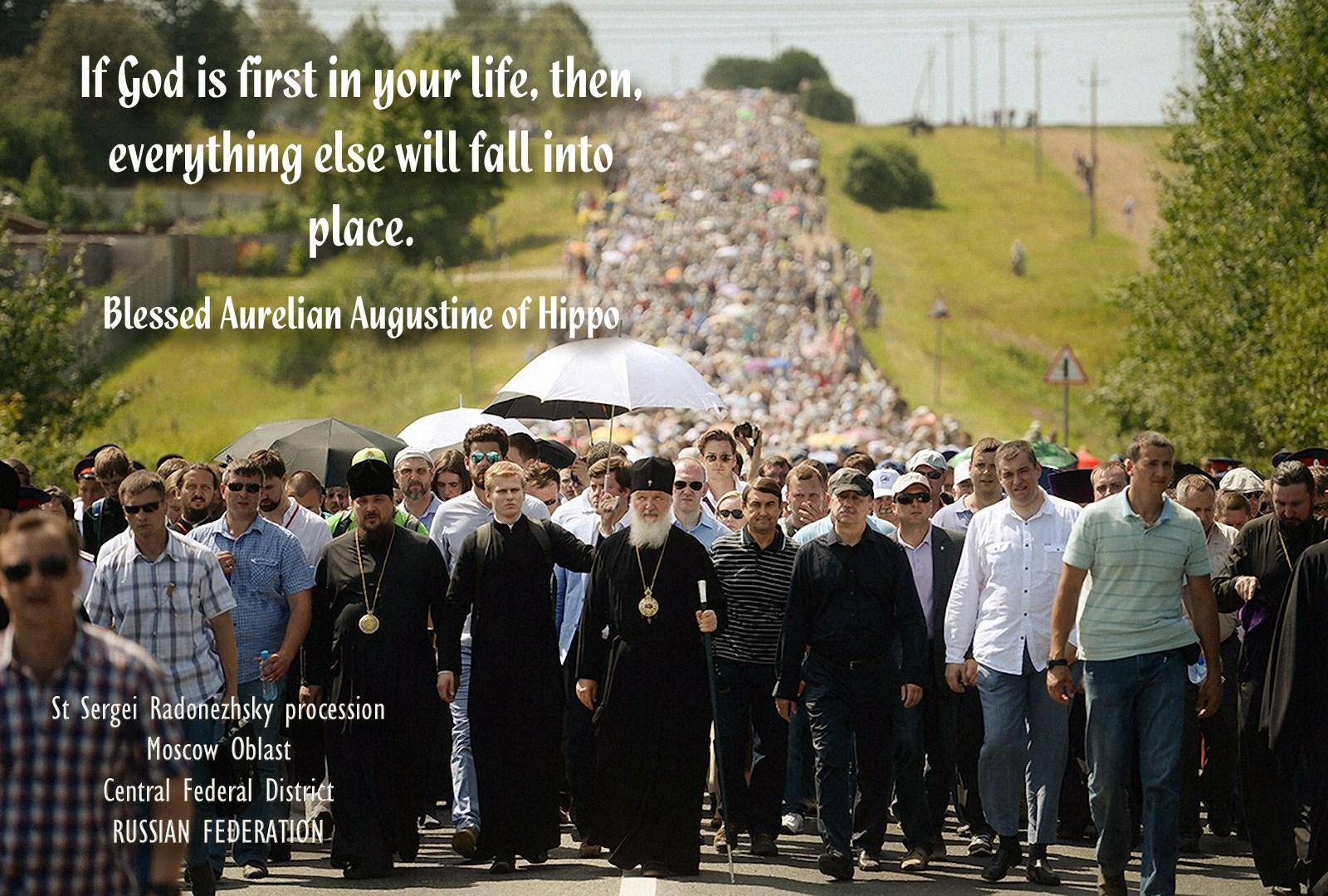 00 Patr Kirill. Russia. St Sergei Radonezhsky procession. 13.05.15