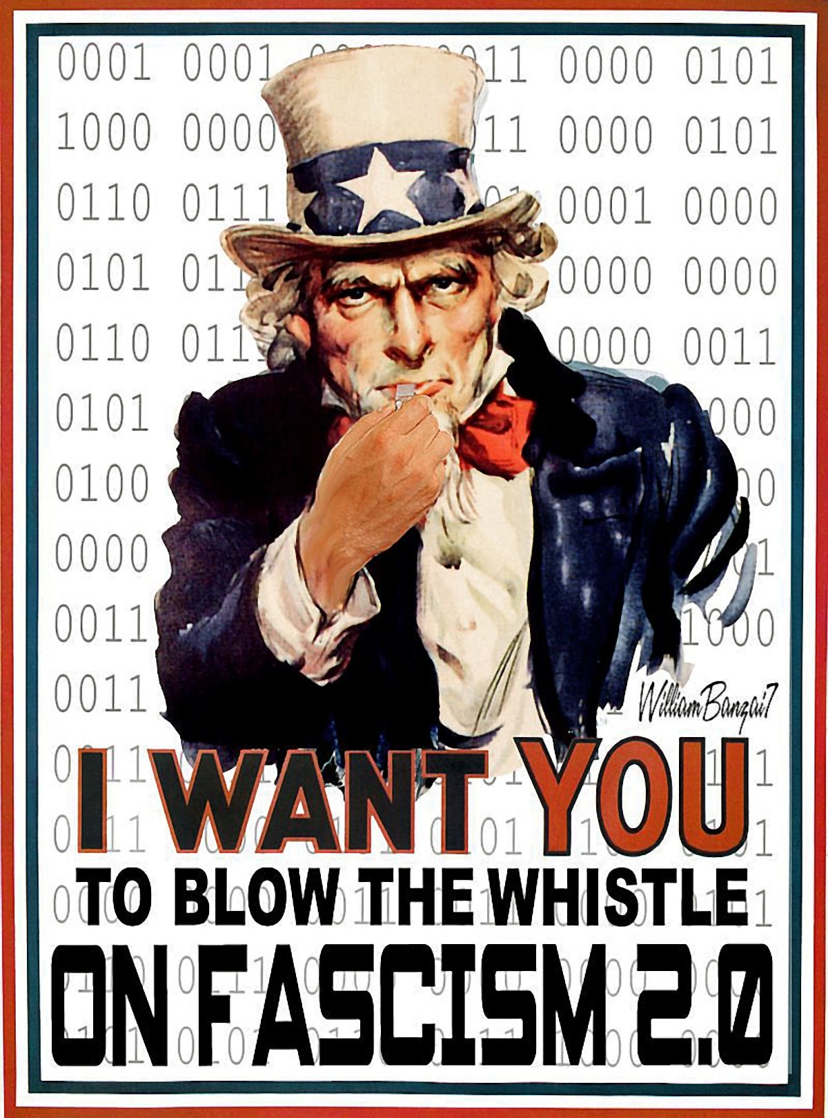 00 Uncle Sam. I Want You to Blow the Whistle on Fascism. 06.07.13