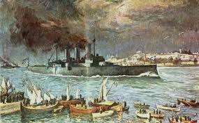 Το Αβέρωφ, το πρώτο Ελληνικο πλοίο στην Κωνσταντινούπολη μετά το 1453